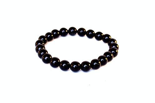 Black Obsidian Bead Bracelet