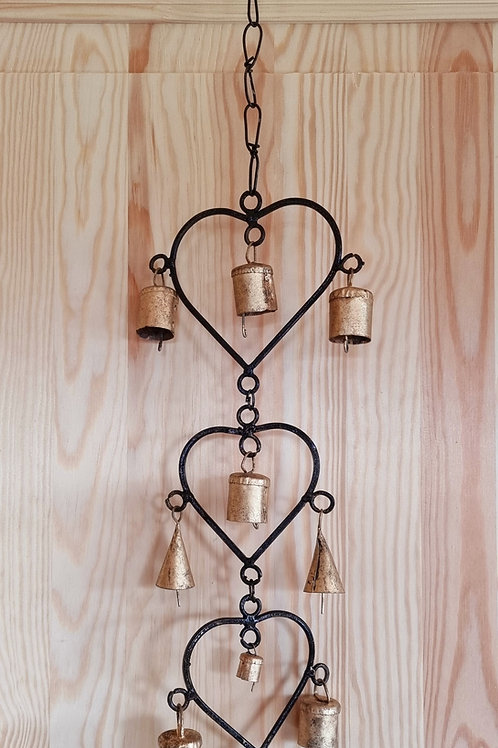 Hearts & Bells Hanging Decoration