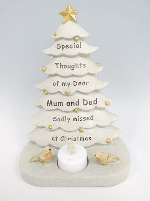 Mum & Dad Tree with Flickering light