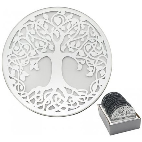 Mirrored Candle Plate - Tree of Life Design