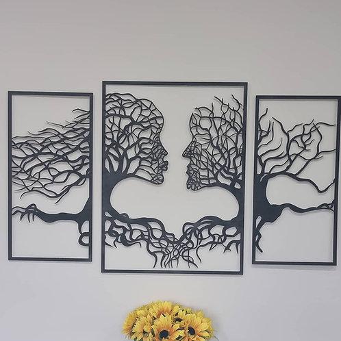 Wooden Wall Panel Artwork (Male & Female)