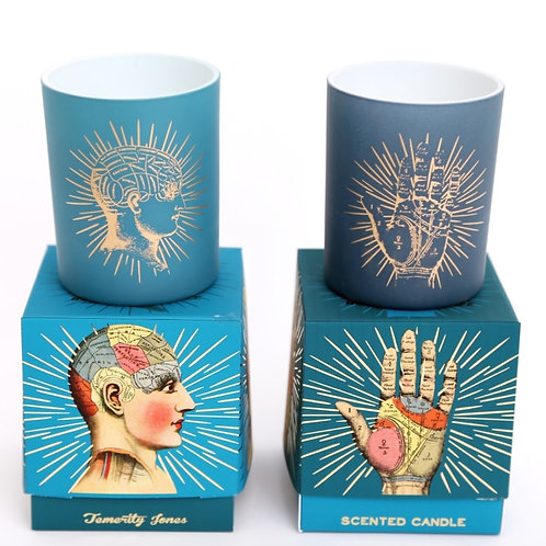 Phrenology and Palmistry Candles Set