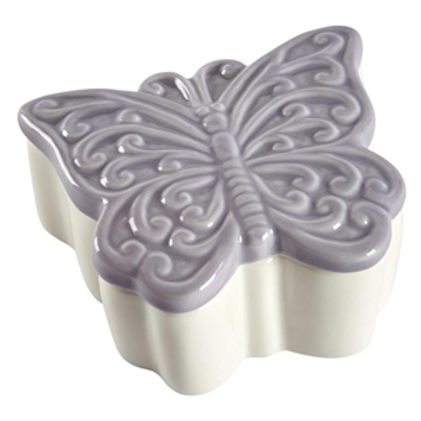 Butterfly ceramic trinket box