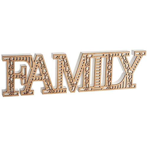 FAMILY Word Block decoration