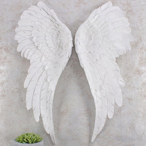 Pair of Glitter Angel Wings - Large