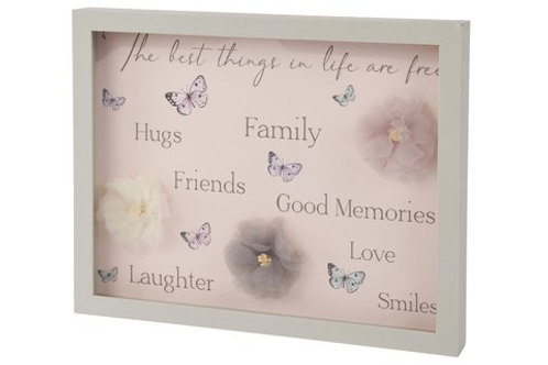 Butterfly framed plaque (Large)