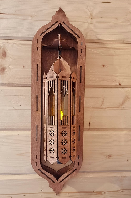 Wooden Moroccan Style Light