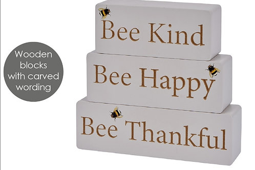 BEE Kind, BEE Happy, BEE Thankful Blocks