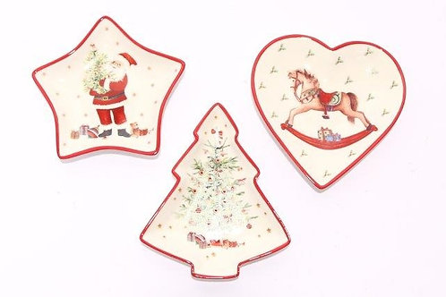 Christmas Themed And Shaped Plates