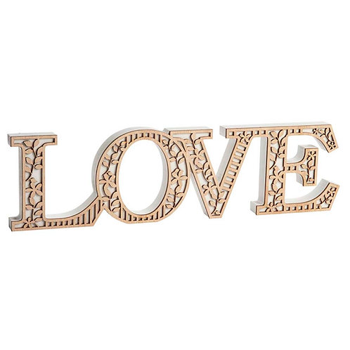 LOVE Word Block Decoration