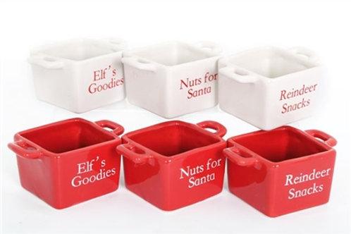Santa Snack Bowls