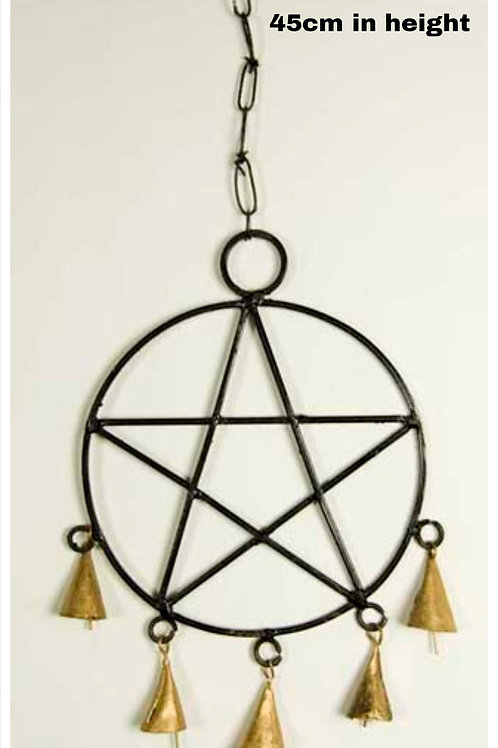Hanging Pentagram with bells