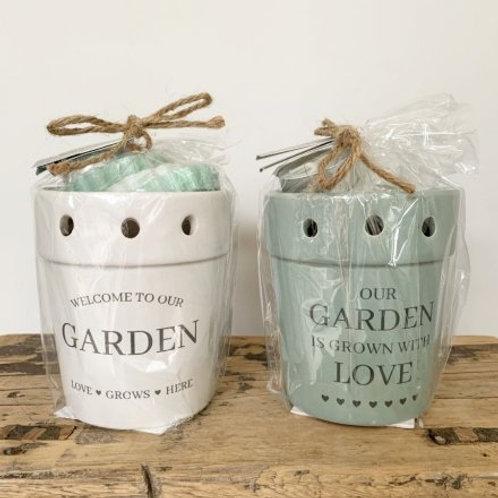 Plant Pot Style Burner - 2 colours
