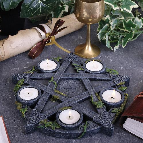 Wiccan Pentagram Tealight Holder