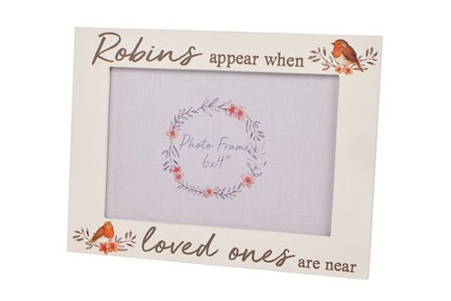 Robins Appear When Loved Ones Are Near - Photo Frame