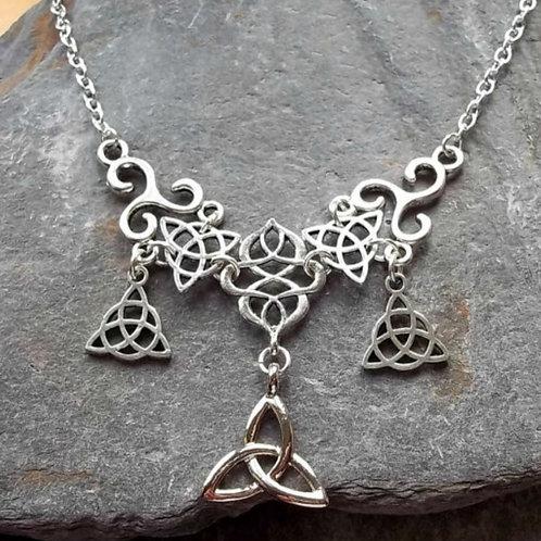 Celtic Style Necklace & Earrings Set