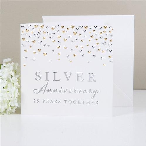 Silver Anniversary Greetings Card
