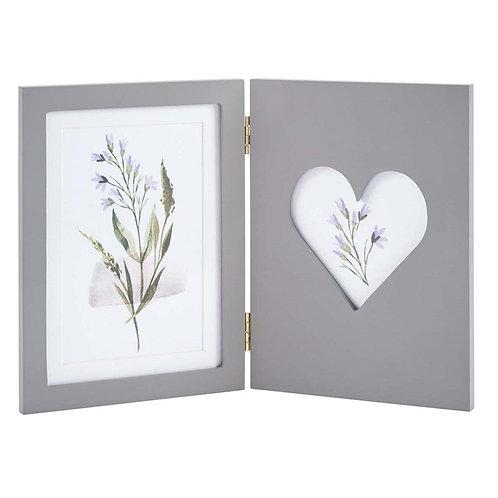 Grey Folding Photo Frame