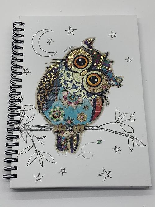 Owl Notebook - A5