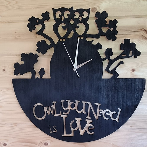 Owl You Need Is Love Clock