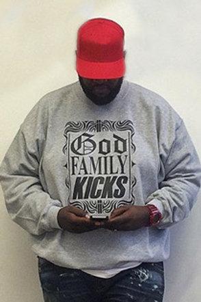 God Family Kicks Crewneck Sweatshirt