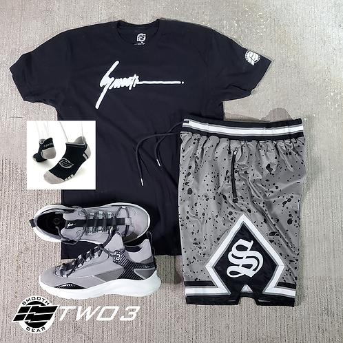 TWO3 Cement - Shoes, Shorts, Shirt, Socks Bundle
