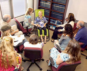 Heather Solarie Conducts Hypnotherapy Demo Session to Students