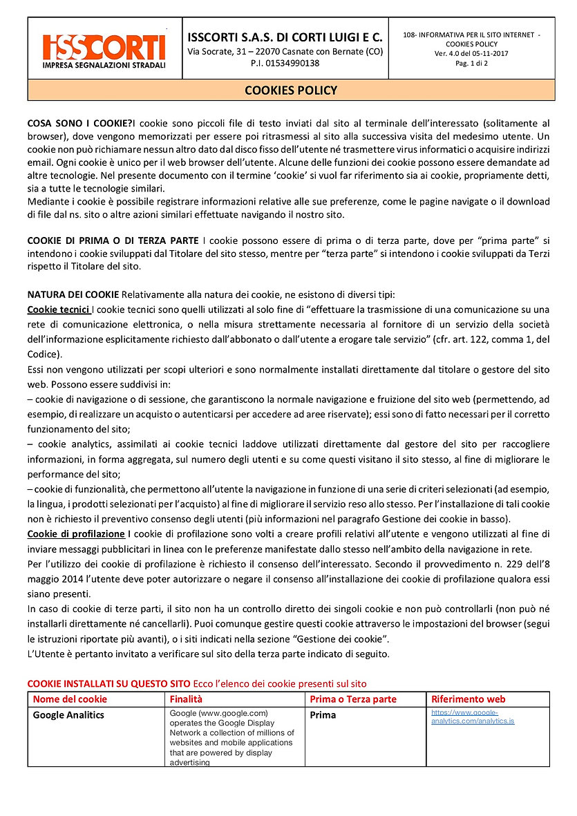 108-INFORMATIVA PER SITO INTERNET COOKIE