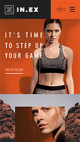 Online Store website templates – Women's Sportswear