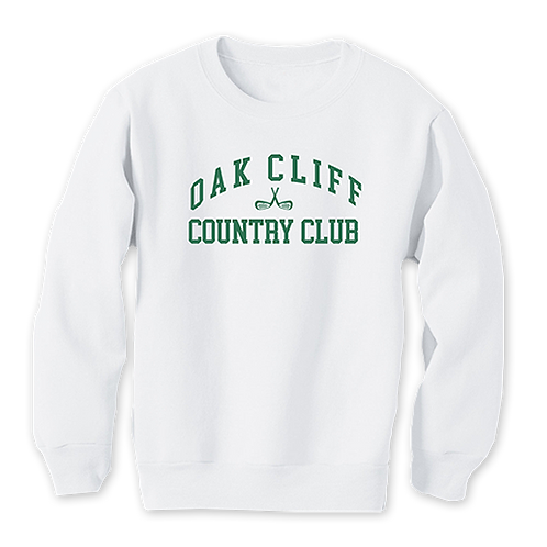White Collegiate Crewneck Sweater