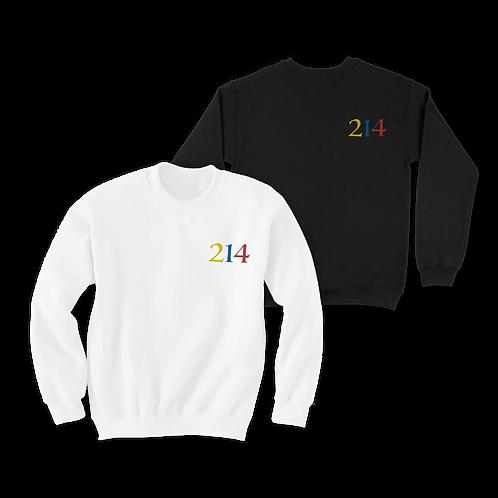 214 Color Block Crewneck Sweater