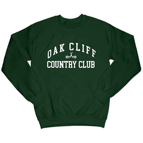Green Collegiate Crewneck Sweater