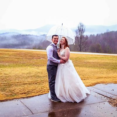 Rainy Mountain top Wedding
