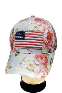 American Floral Hat