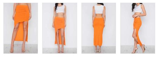 Orange Hi-Low Skirt