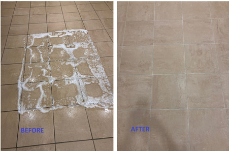 Commercial Tile Cleaning Before and After