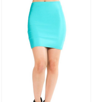 Luxe Mini Skirt - Teal