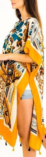 Mosaic Throw Over Kimono