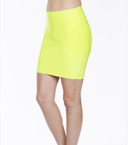 Luxe Mini Skirt - Neon Lime