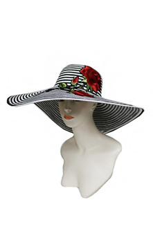 Black, White And Rose Hat