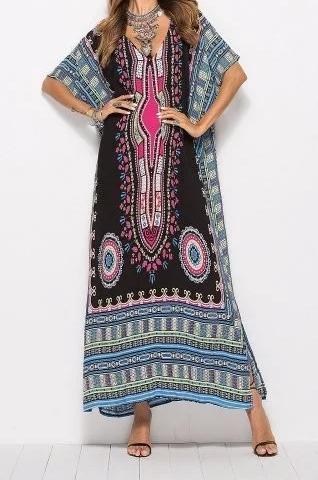 Bohemian Maxi Tunic Dress