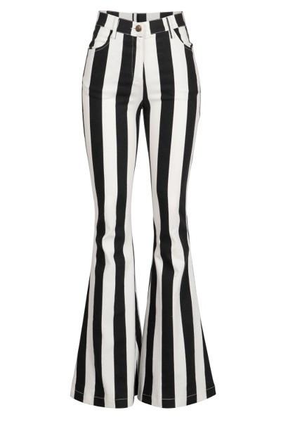 Black and White Stripe Pants