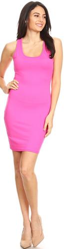 Racerback Tank Dress - Pink