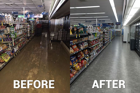 CommercialWater Damage Before and After