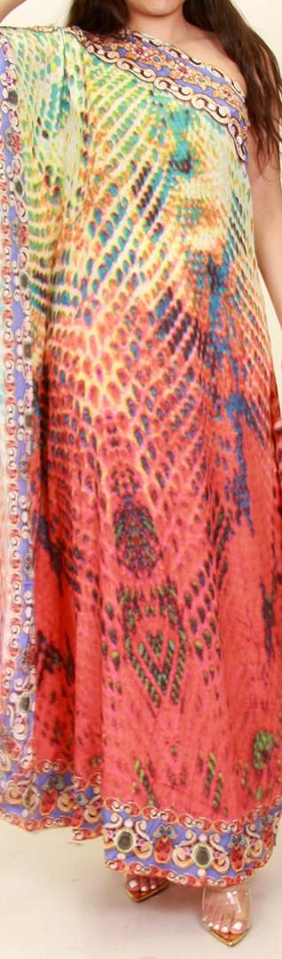 Multi-Print One Shoulder Dress