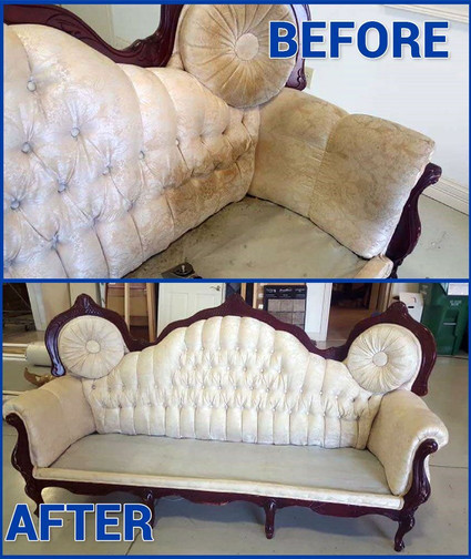 Antique Couch Cleaning Before And After