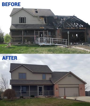 Residental Fire Damage Restoration