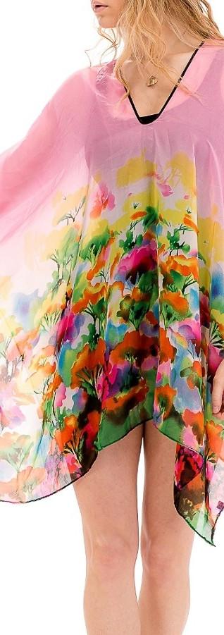 Watercolor Sheer Kimono Top