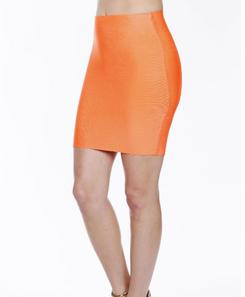 Luxe Mini Skirt - Neon Orange
