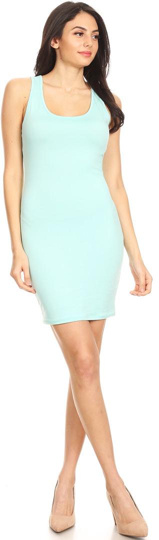 Racerback Tank Dress - Mint